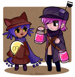 Commission - Niko and Lamplighter WWS