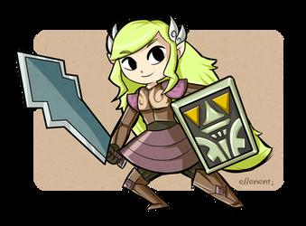 Phantom Zelda by ellenent