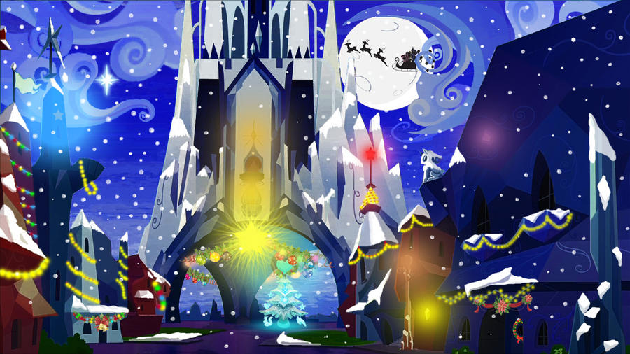 Christmas in Crystal Empire by TheNocturnalMelody