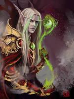 Kael's magic_sketch by RinaCane