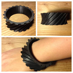 Helical Gear Bangle