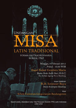 Invitation to have traditional latin mass