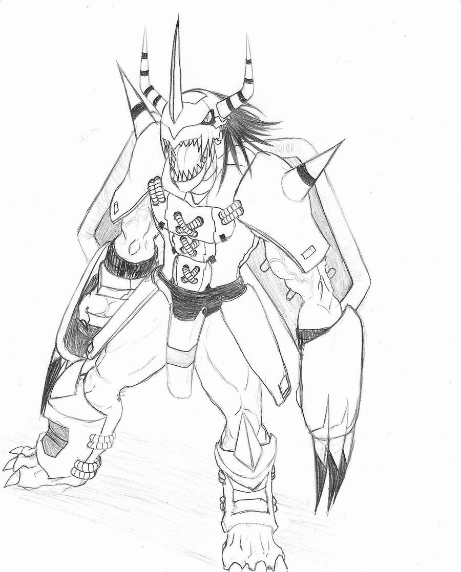 digimon wargreymon coloring pages sketch coloring page