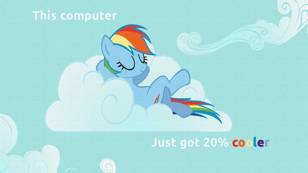 Rainbow dash this computer just got 20% cooler by Yugilover1