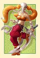 Girl With Sword by DAN-KA