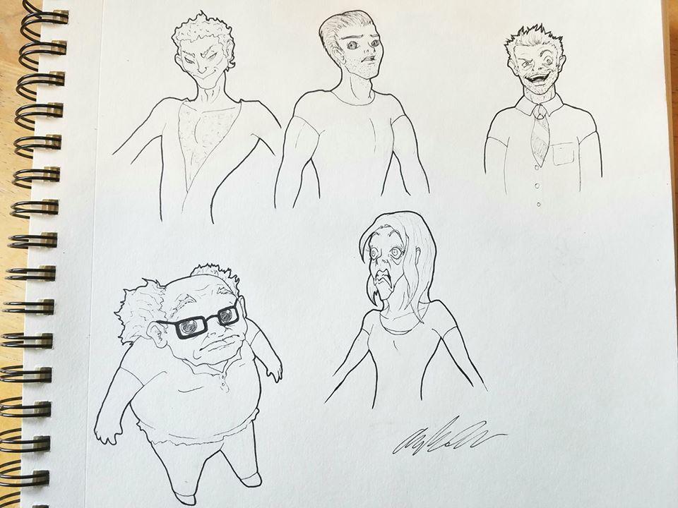 It's Always Sunny in Philadelphia cast drawing (re by AndrewChaconArt