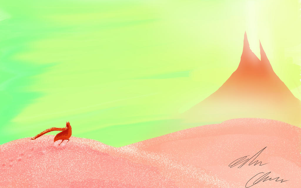 Journey - a digital painting exercise fanart by AndrewChaconArt