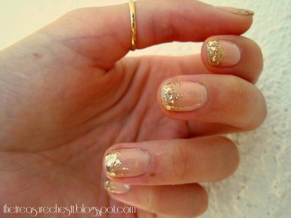 Prettiest Glitter Nude Nails! by IoanaZ