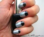 Halfmoon Metallic Nails