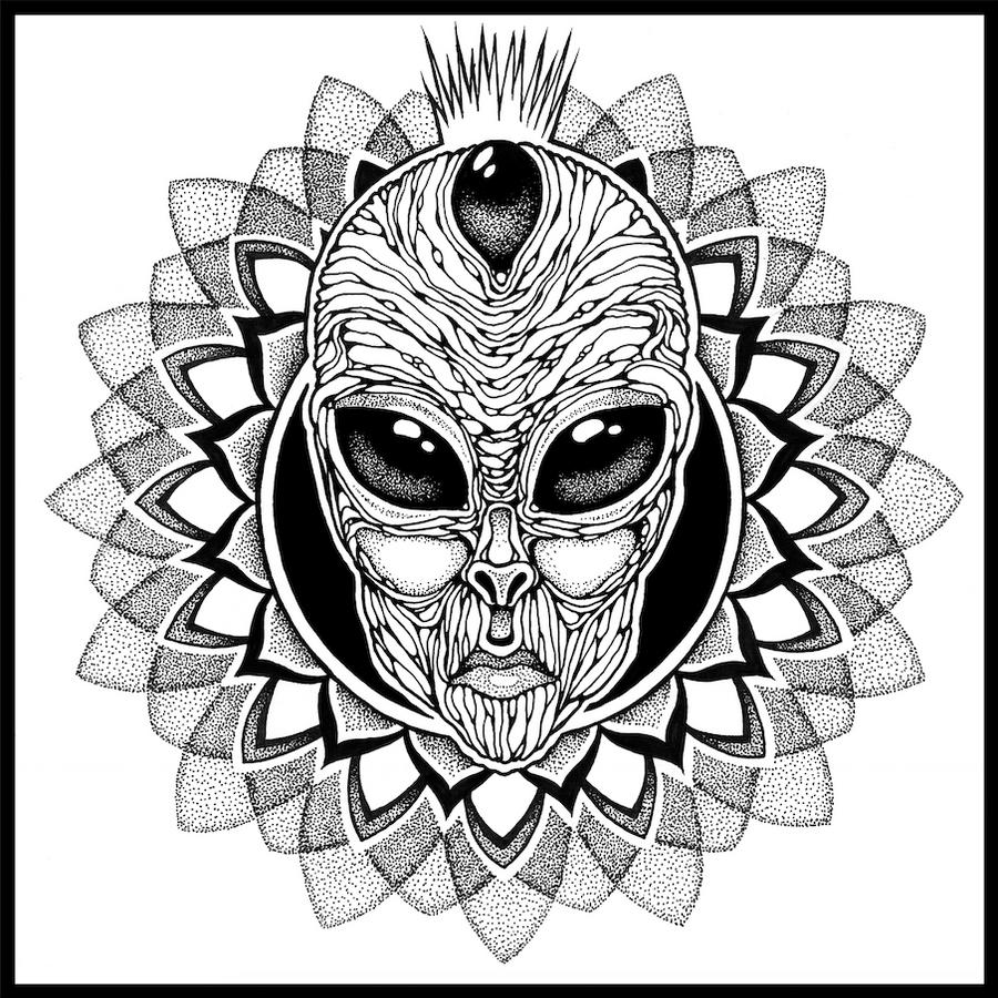 Alien Mandala by Dana-Ulama