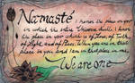 Namaste - Watercolor Painting - We Are One