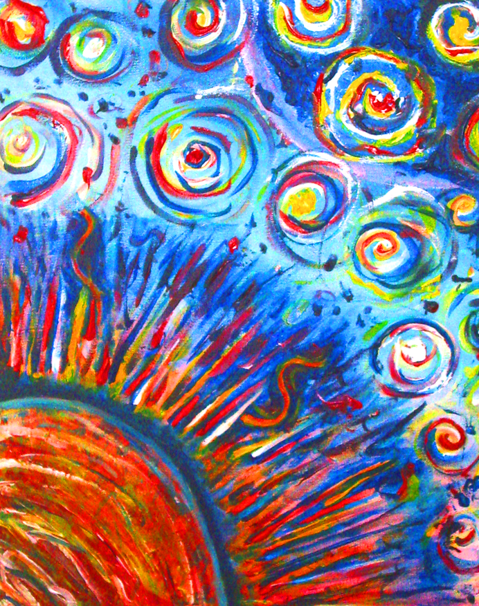 Sun Painting - Acrylic Painting - Bright colors by ...