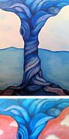 Surrender - Tree Acrylic Painting