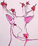Deer Valentine - Cartoon Drawing