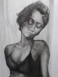 She Dreams Slowly Female Drawing Study