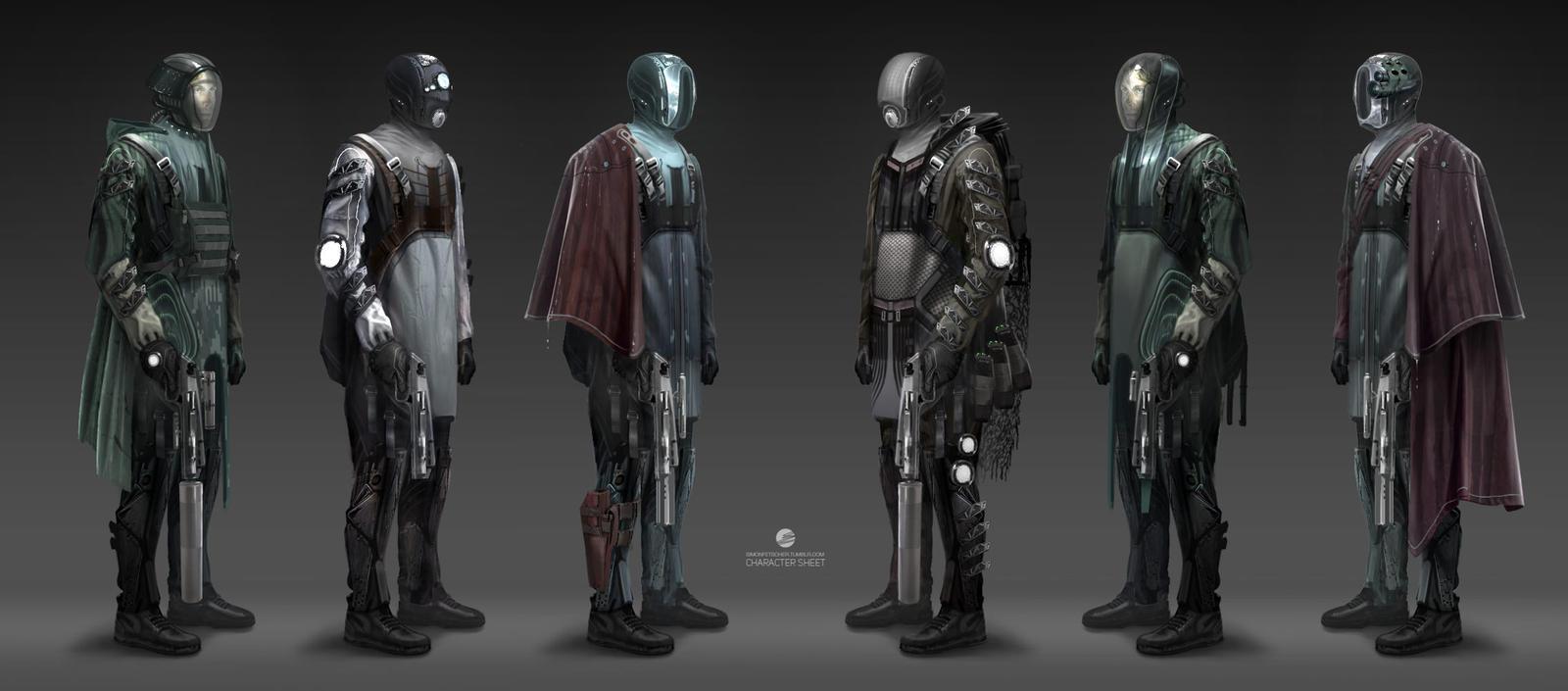 Sci-fi Hunter Character Sheet