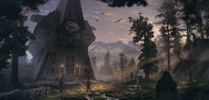 Hawk Temple by simonfetscher