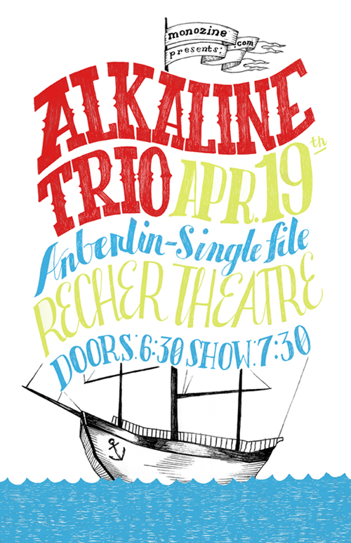 Alkaline Trio Poster by JenMussari