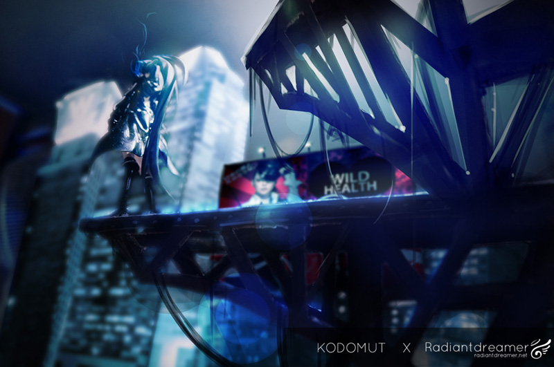 Black Rock Shooter Photoshop by vihena