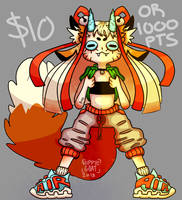 $10/1000 pts Adoptable [OPEN] by GoatKidCryptid