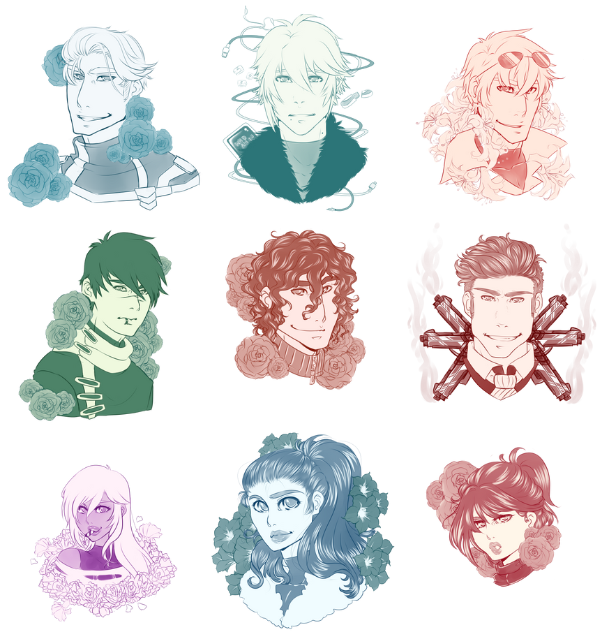 A-Gents Headshot Gifts - Commissioned by ValkyrieKago