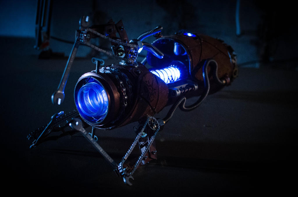Steampunk Portal Gun - Blue by case15