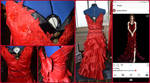 Aerith's red dress by IceDragonCollection