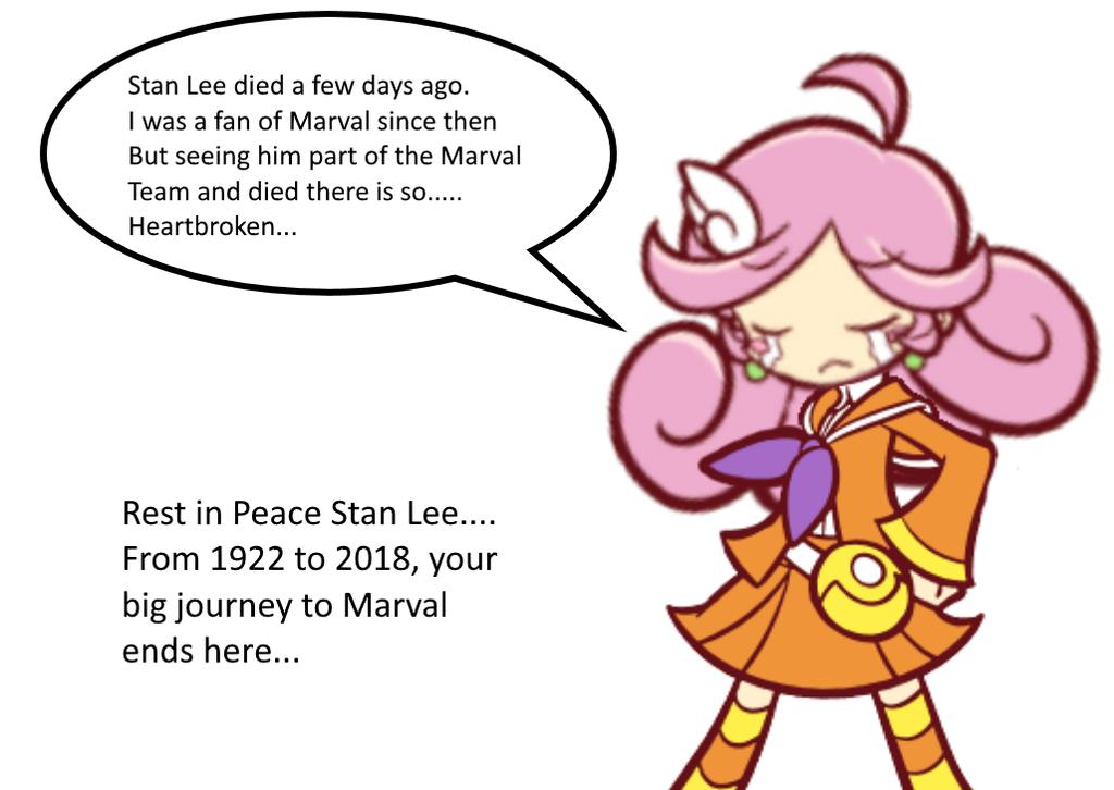 Raffine is sad about Stan Lee's Death by Sandrag1