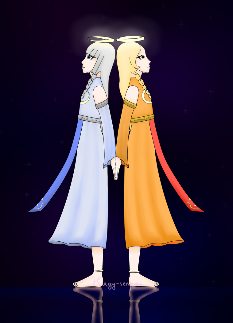 Moon and Sun by Hugy-senpai