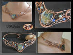 Babylon- wire wrap necklace