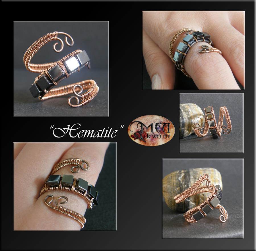 Hematite- ring by mea00