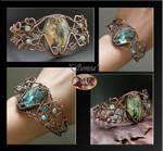 Sonea- wire wrapped bracelet