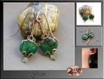 Grain- wire wrap earrings