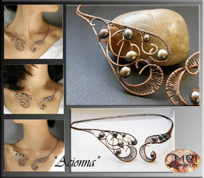 Acionna- wire wrapped necklace by mea00