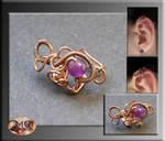 Mini earwrap- wire wrapped