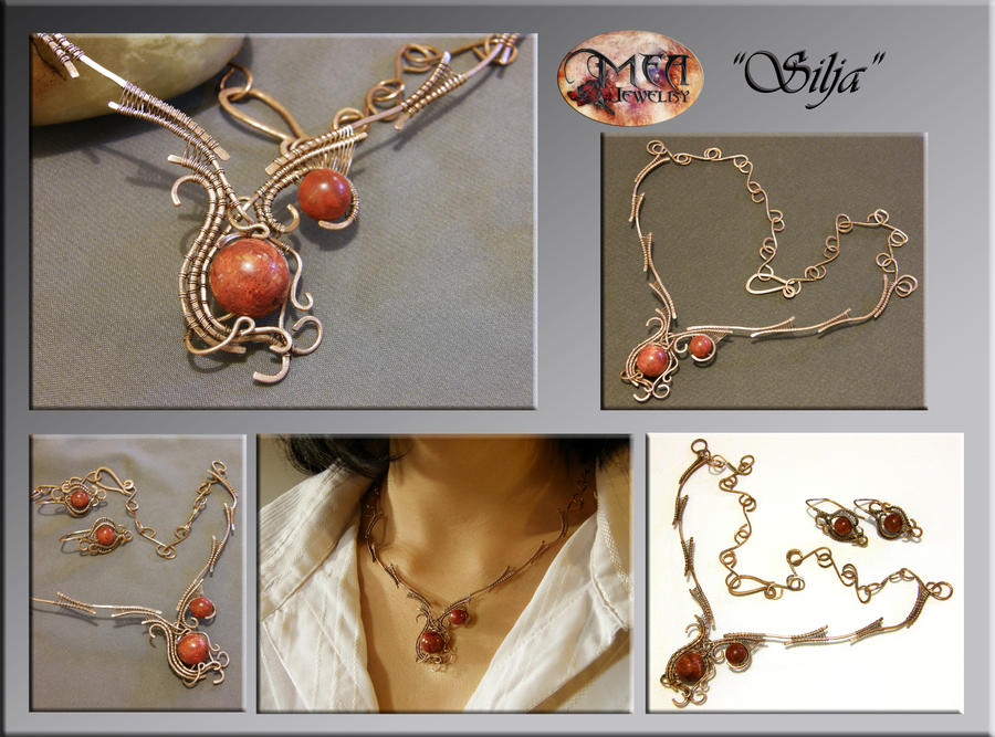 Silja- wire wrapped necklace by mea00