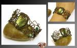 Sonea II- wire wrapped bracelet