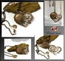 Inside heart- wire wrapped pendant/locket by mea00