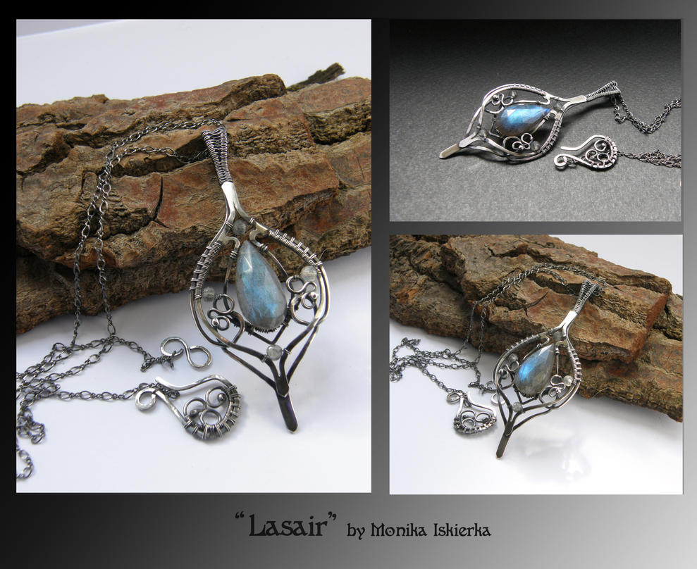 Lasair- wire wrapped pendant by mea00