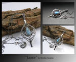Lasair- wire wrapped pendant
