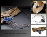 Water sorcery- wire wrapped necklace
