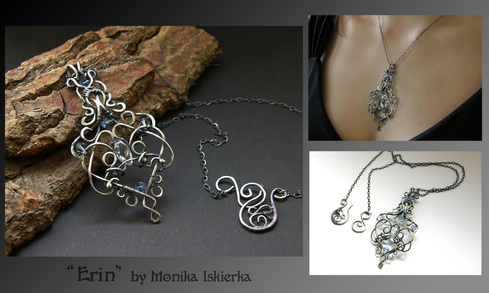 Erin- wire wrapped pendant by mea00 on DeviantArt