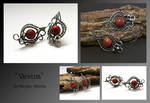 Vevina- wire wrapped earrings