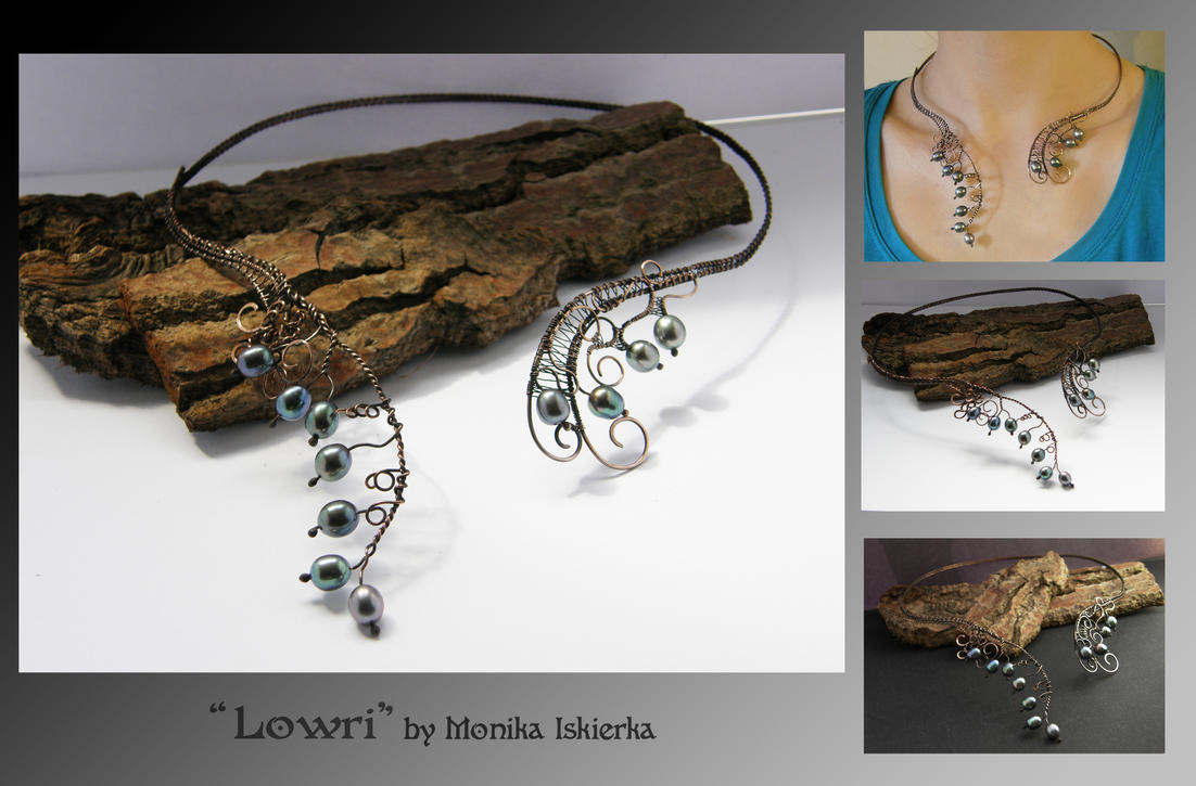 Lowri- wire wrapped necklace by mea00