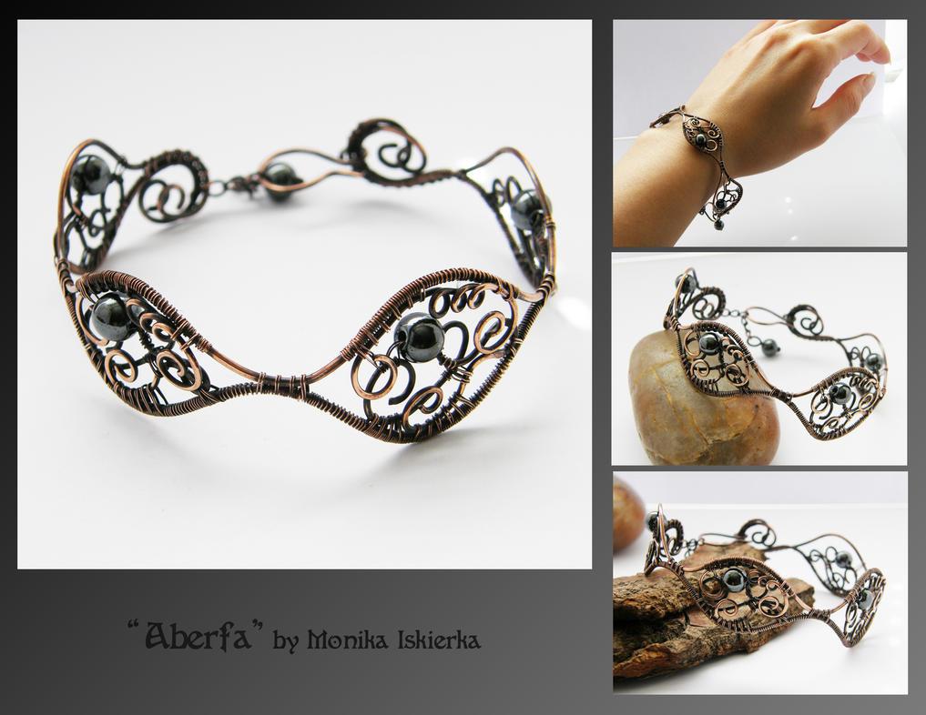 Aberfa- wire wrapped bracelet by mea00