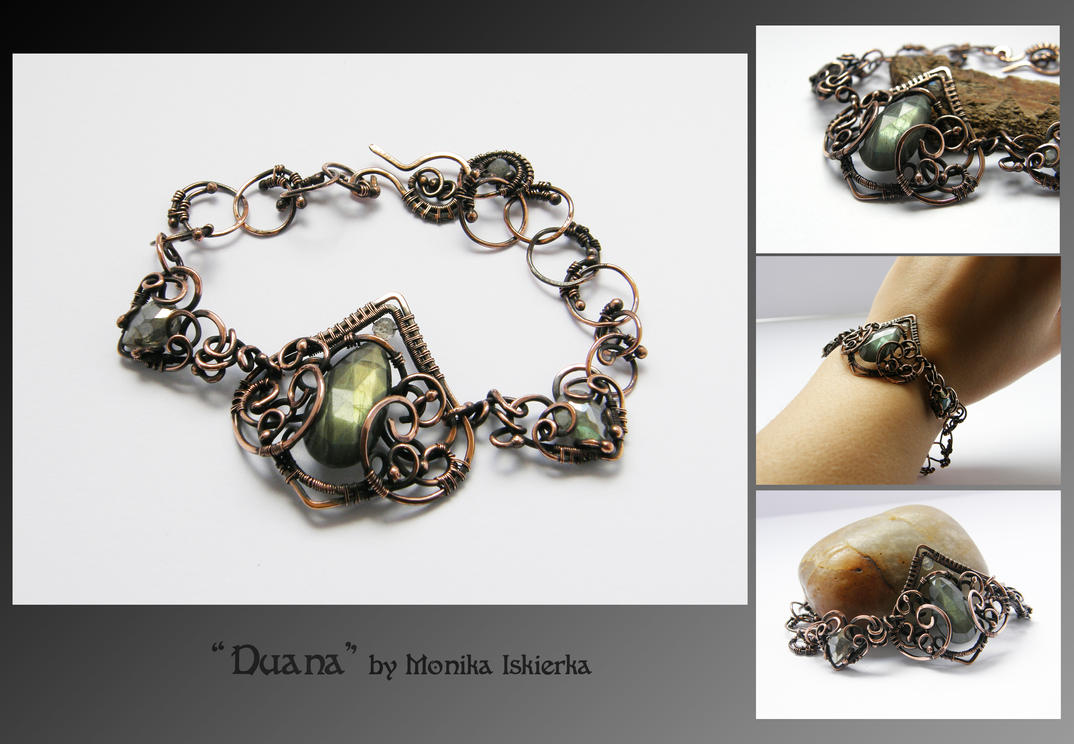 Duana Wire Wrapped Bracelet By Mea00 On Deviantart