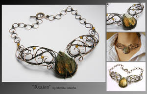 Avalon- wire wrapped necklace by mea00