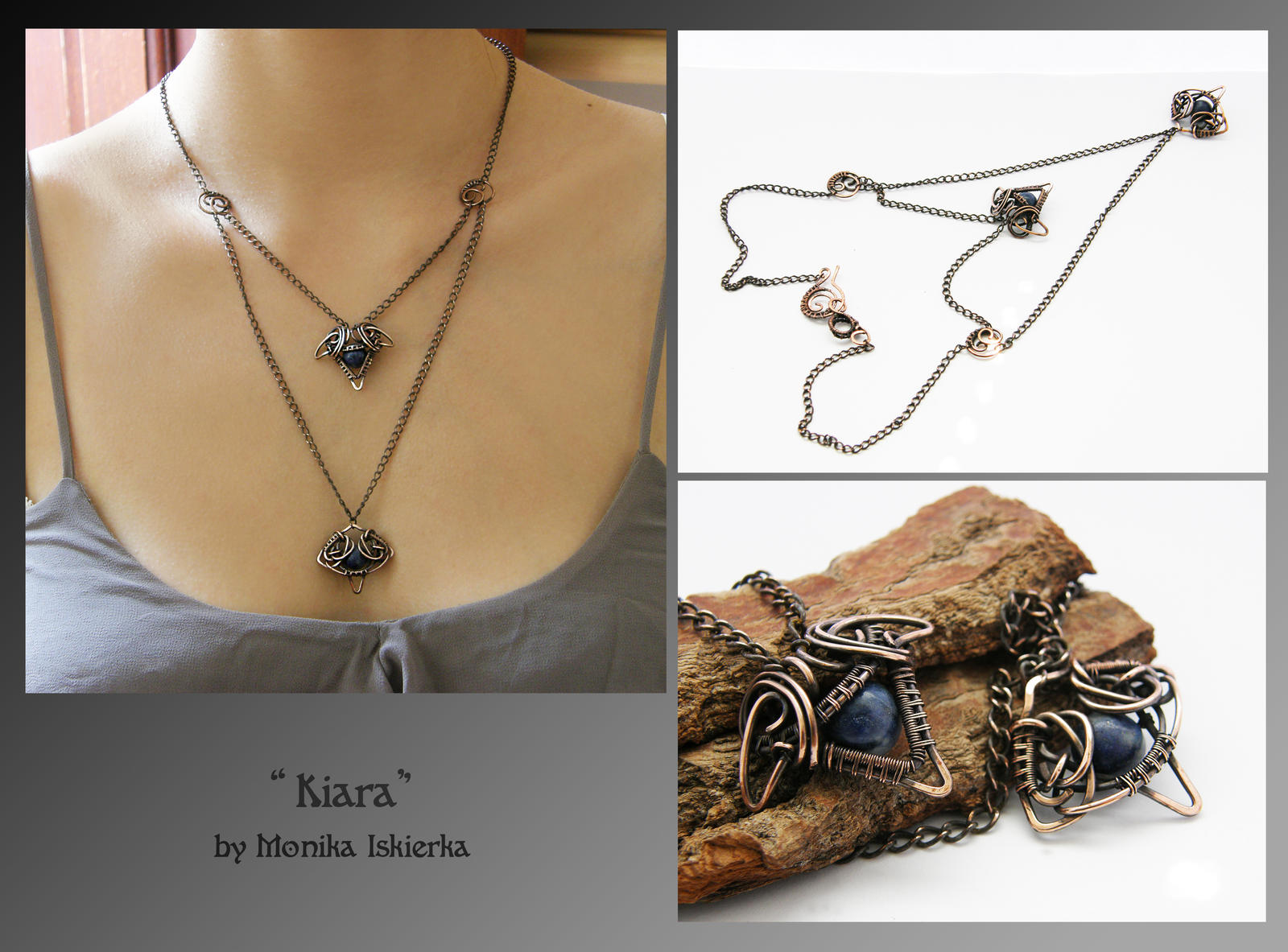 Kiara- wire wrapped necklace by mea00