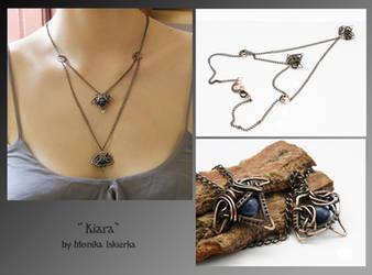 Kiara- wire wrapped necklace