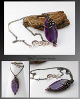 Gail- wire wrapped pendant by mea00